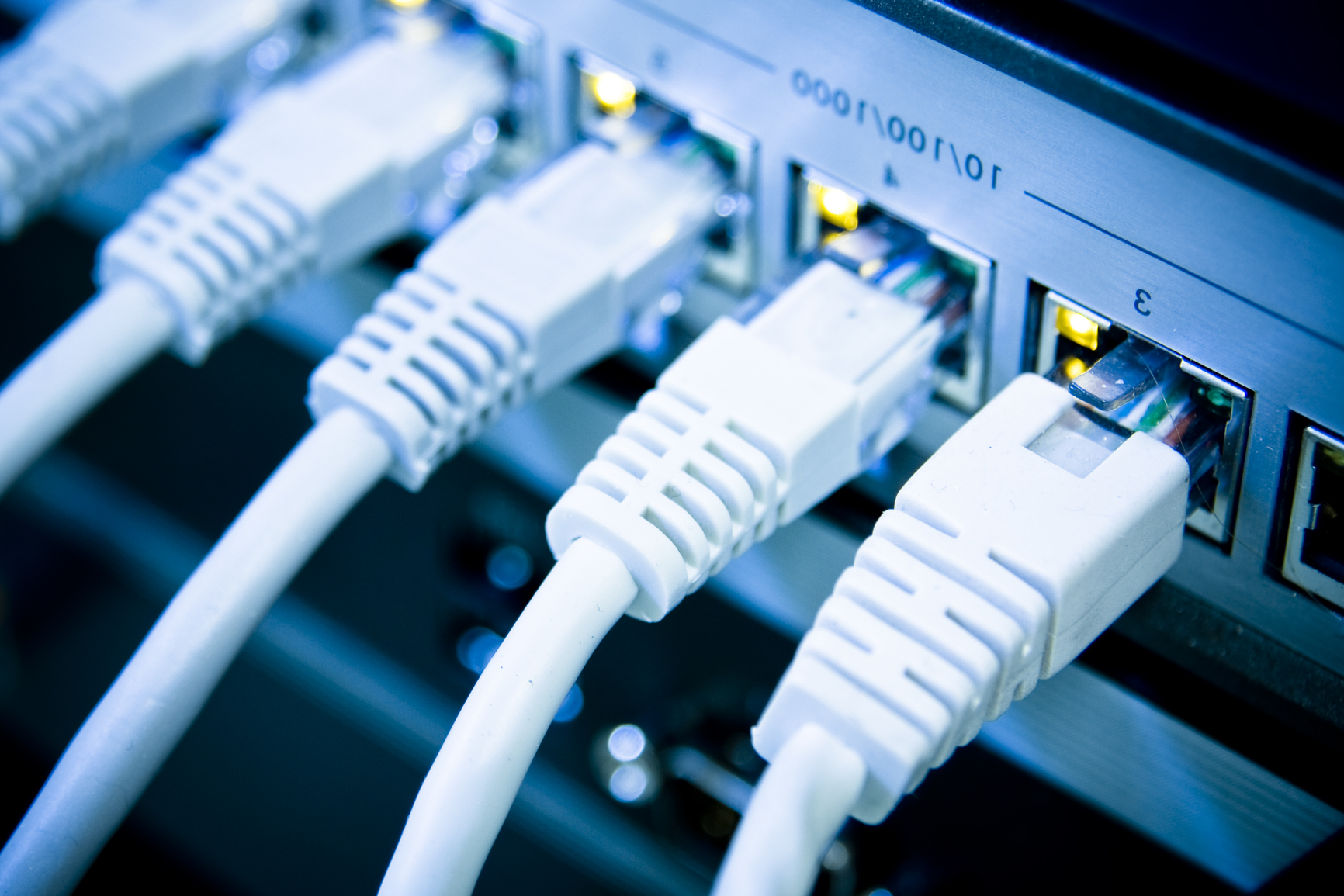 Network Cables Connected To Switch Computer Initiatives